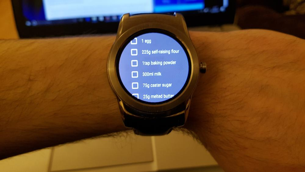 Google Keep List on Android Wear