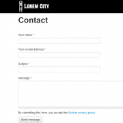 Lorem City Contact Page
