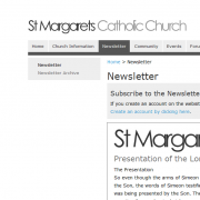 St Margaret's Website Newsletter