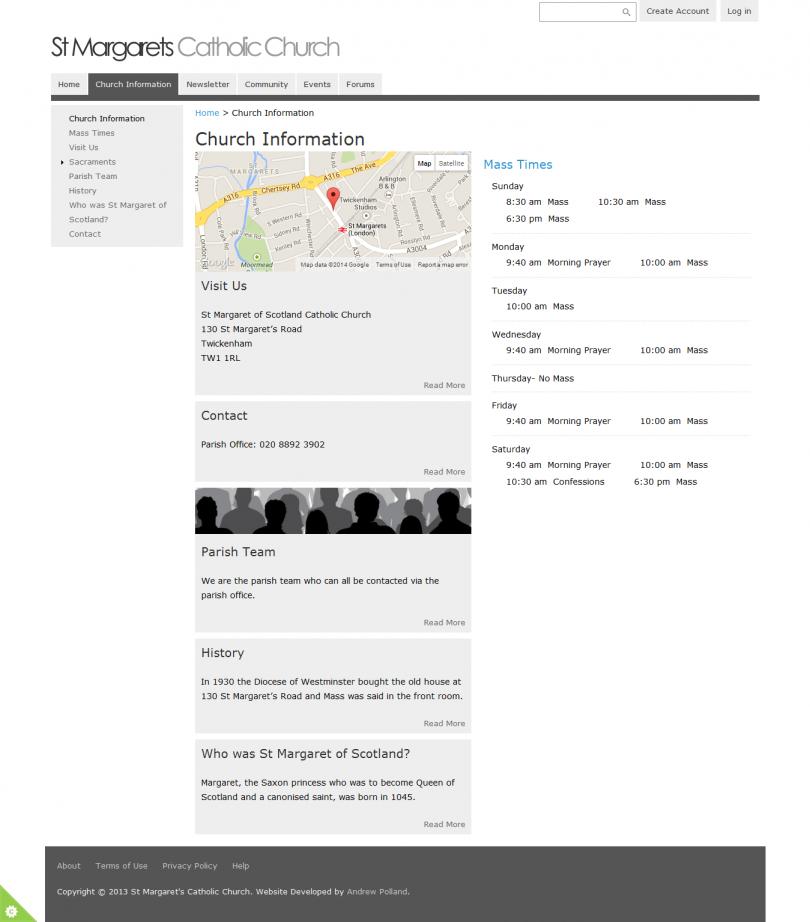 St Margaret's Website Church Information